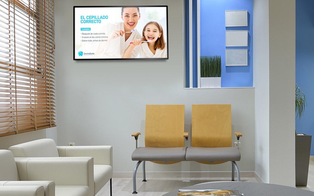pantallas publicitarias para clinicas