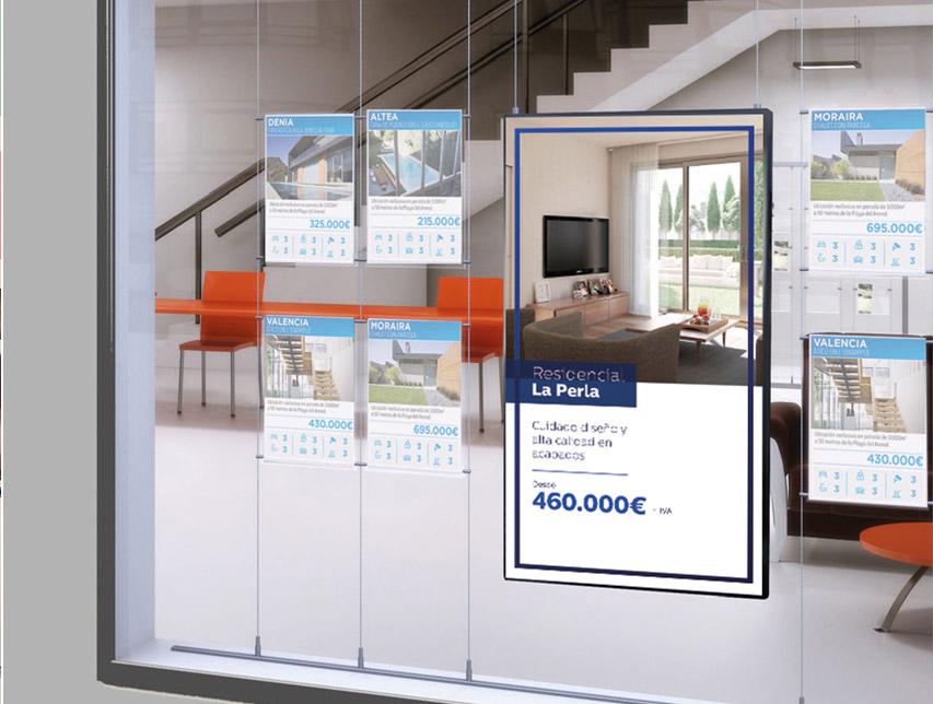 carteleria digital inmobiliarias