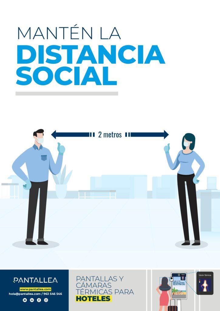 distancia social hoteles