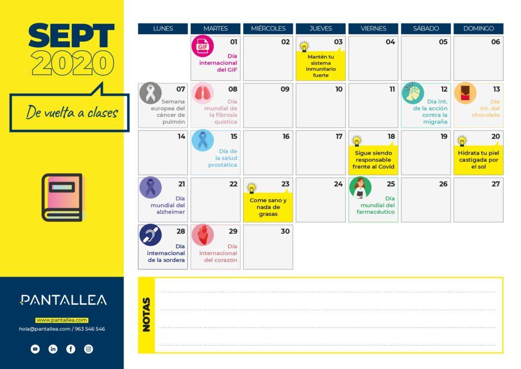 calendario septiembre farmacias