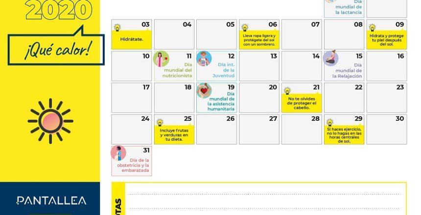 calendario agosto contenidos