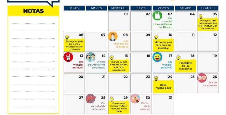 calendario contenidos julio